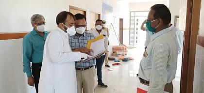 कोविड 19 टेस्टिंग लेब के रिनोवेशन को लेकर विधायक लोढा ने किया अर्बन स्वास्थ्य केंद्र का निरीक्षण