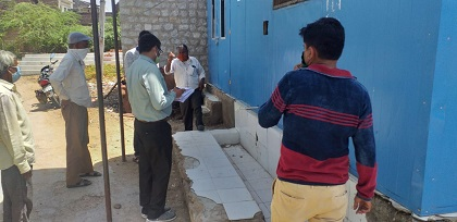 जिला कलेक्टर के आदेश पर उपखंड अधिकारी हसमुख कुमार निकले निरीक्षण पर