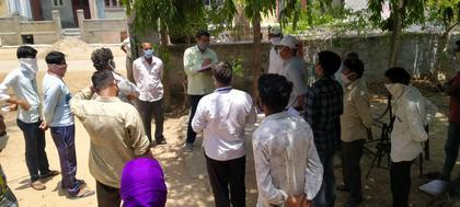 एसडीएम हंसमुख कुमार ने किया सिरोही ग्रामीण का दौरा।।