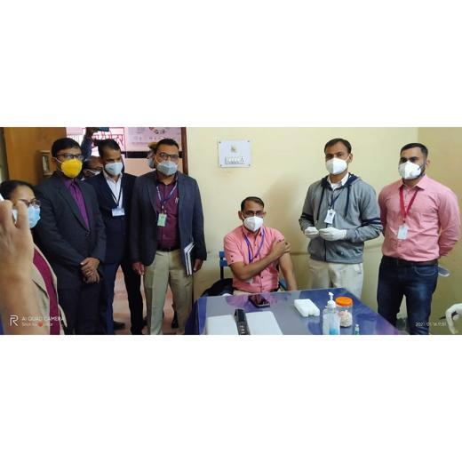सिरोही जिले में कोविड टीकाकरण अभियान का हुआ शुभारंभ